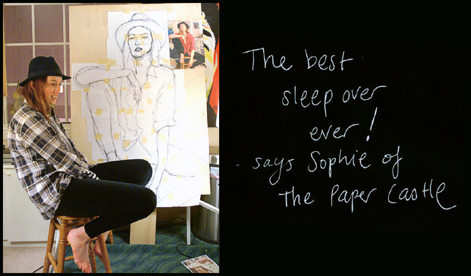 Australian Model/ Writer Sophie Ward sitting and Posing for My Painting