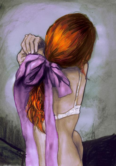 Danny roberts Paint of beautiful girl back