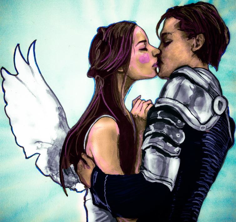 Danny Roberts Painting of Leonardo DiCaprio and Claire Danes from the Movie Romeo and Juliet