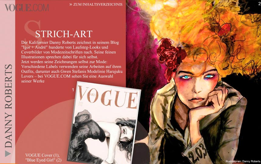 Danny Roberts Featured in Vogue Germany October 2009
