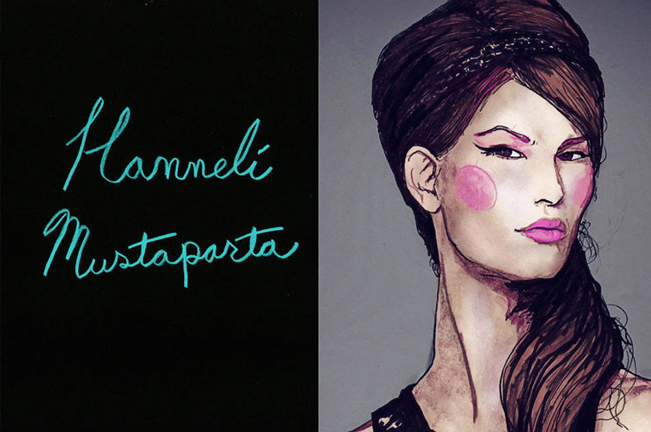 Artist Danny Roberts portrait of model photographer and blogger, Hanneli Mustaparta