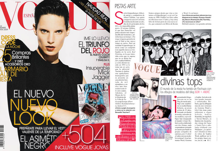 Danny Roberts feature in Vogue Spain plus cover