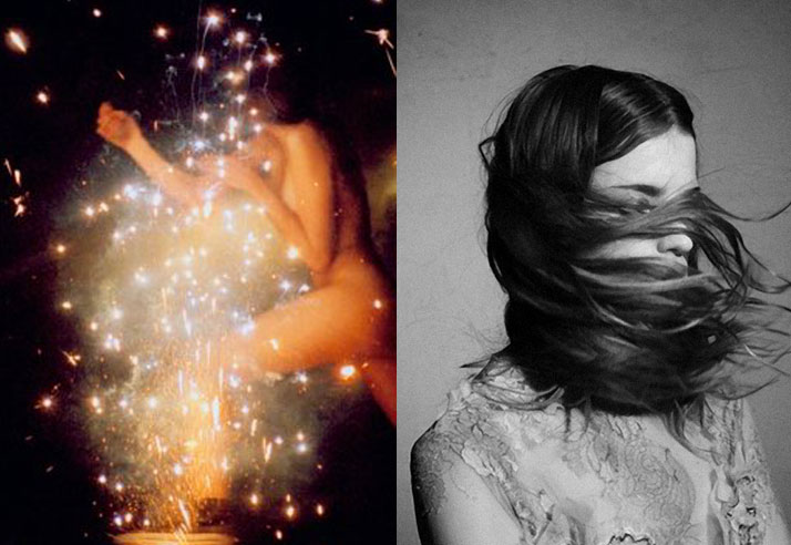 Inspiration friday of a naked girl running through fire works and a of a girls hair flying