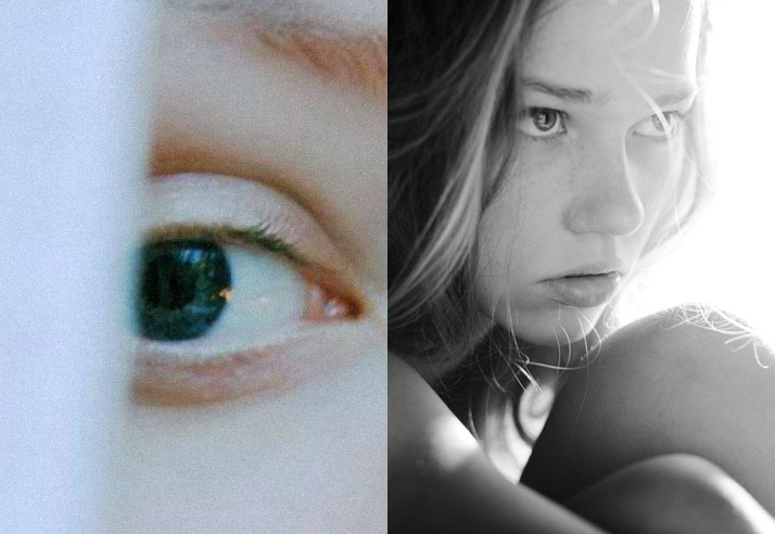 Inspiration friday of a girls green eye and a girl looking forward