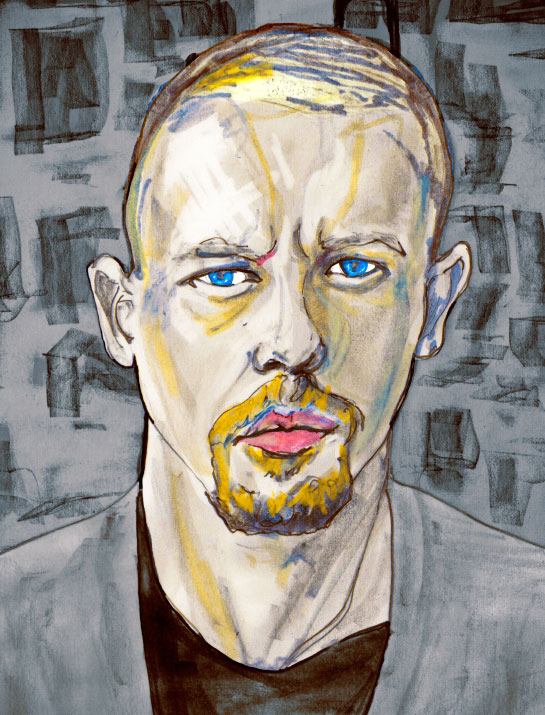Artist Danny Roberts Painted Tribute of the Great and innovative Fashion Designer Alexander McQueen who was born 7 March 1969 and died 11 February 2010