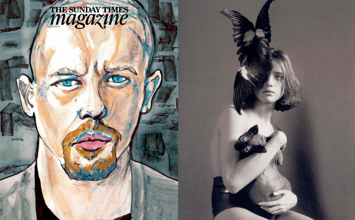 Inspiration friday tribute post Images of all the great fashion designer lee alexandre Mcqueen collections over the years danny roberts sunday times cover