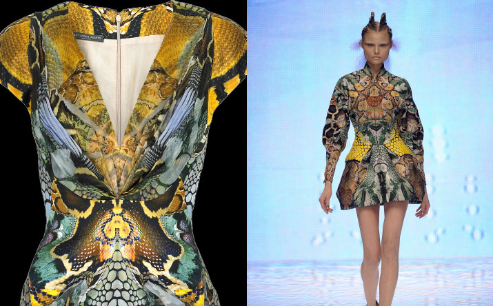 Inspiration friday tribute post Images of all the great fashion designer lee alexandre Mcqueen collections over the years