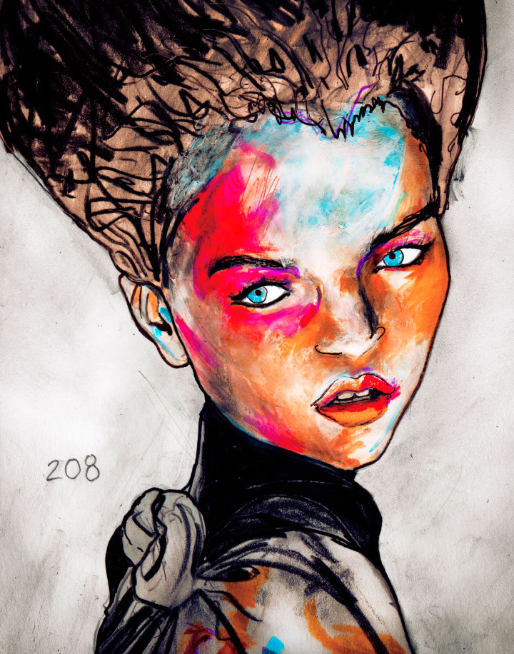 Painting of Annabelle Belikova by Danny Roberts for his Character Sketchbook Number 208