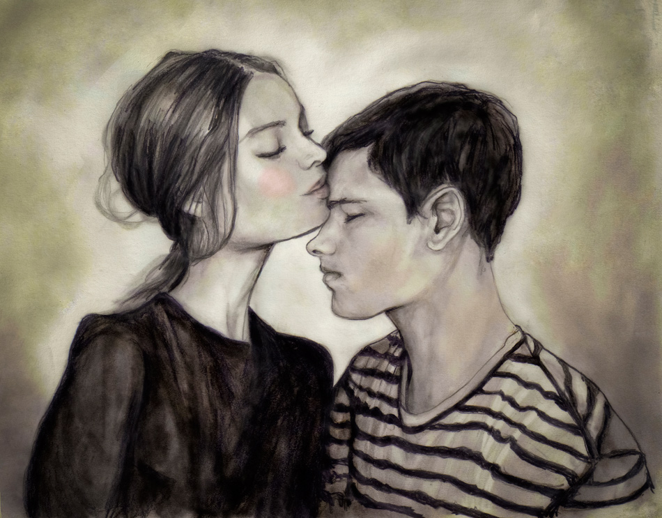 A self portrait of danny roberts and his girl