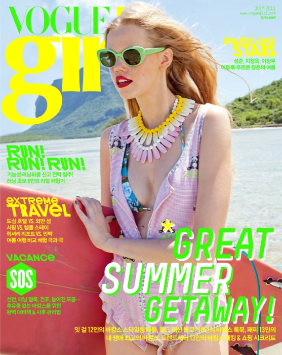 This is the cover of Vogue Girl Korea July 2011