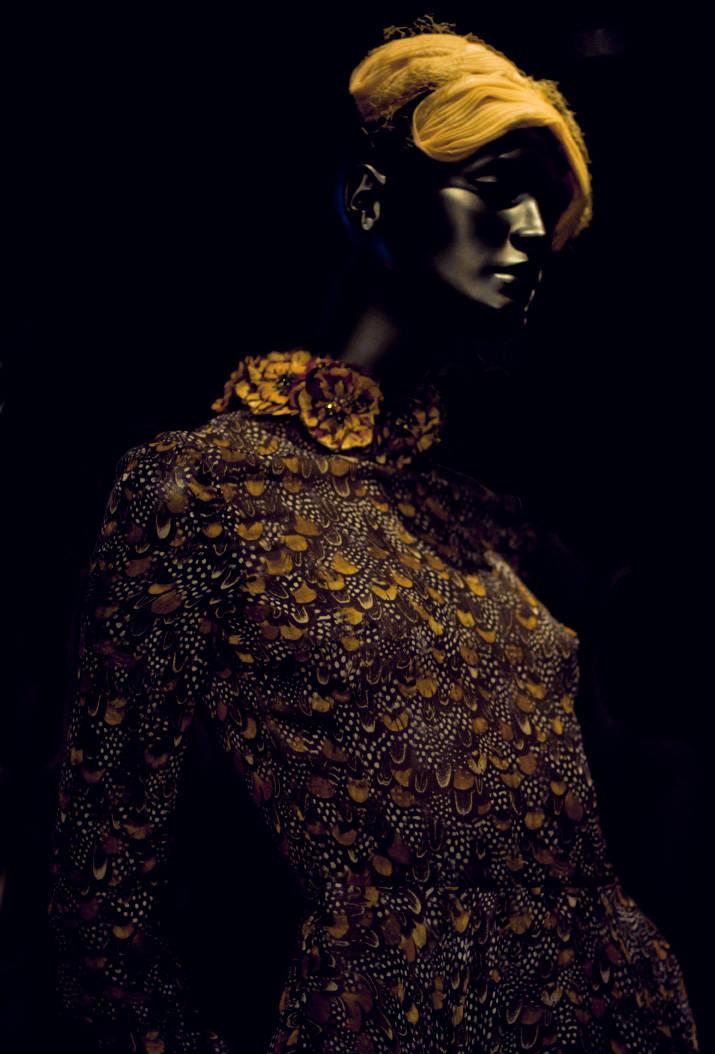 Black photo of a butterfly dress in restir tokyo
