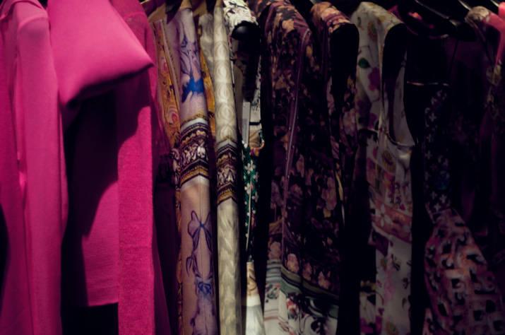 a rack of clothing in restir tokyo