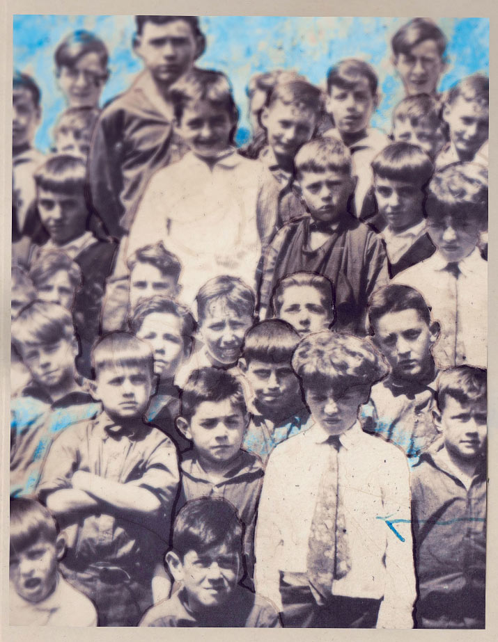 1910 collage photo of artist danny roberts grandpa for his whats contemporary issue
