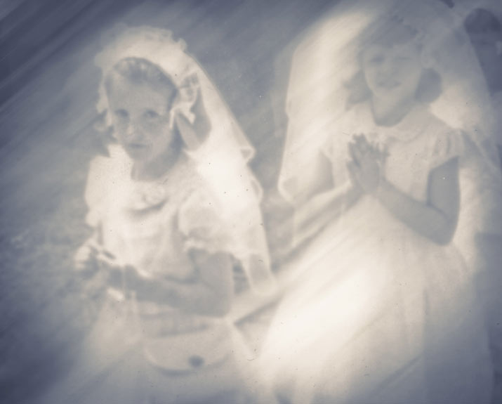 A dreamy looking photo of danny roberts mother marry roberts in a wedding dress for whats contemporary issue