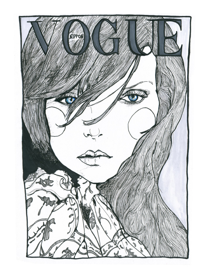 Artist danny Roberts interpretation of Heather Marks Vogue Nippon