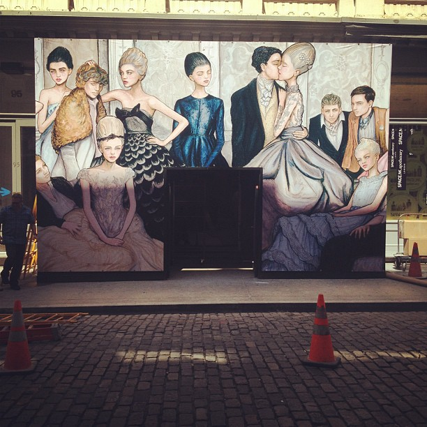 Photo From Instagram of Tiffany SoHo store Mural Painting by Fashion Artist Danny Roberts
