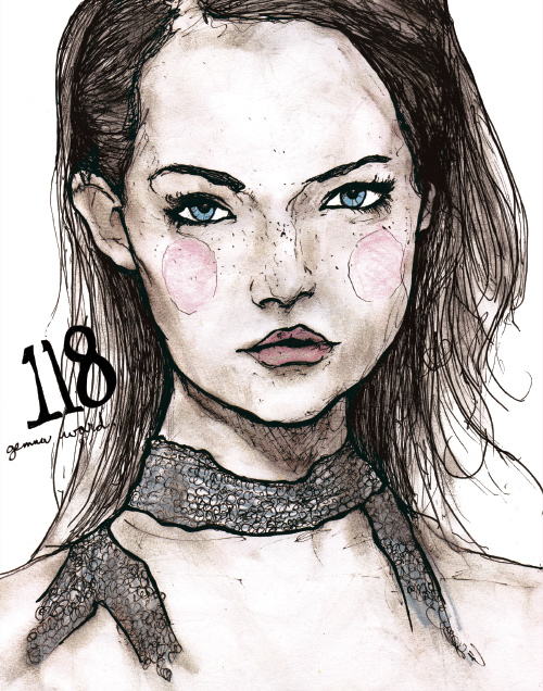 Gemma ward in artist Danny Roberts Character Sketchbook 118 volume 2 drawing