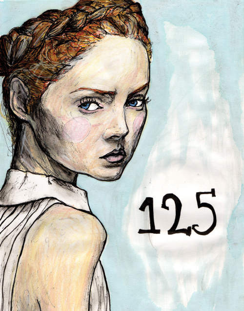 model lily cole in artist Danny Roberts Character Sketchbook 125 volume 2 drawing