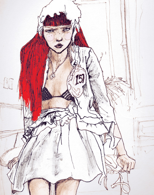 model lily cole in artist Danny Roberts Character Sketchbook 156 volume 2 sketch drawing