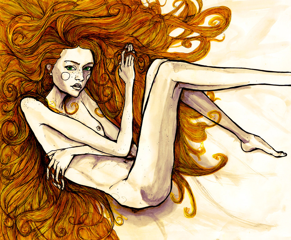 the original version of the nude picture from Artist Danny Roberts Portfolio.