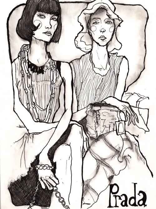 Art by Danny Roberts Sketch of a Prada Ad