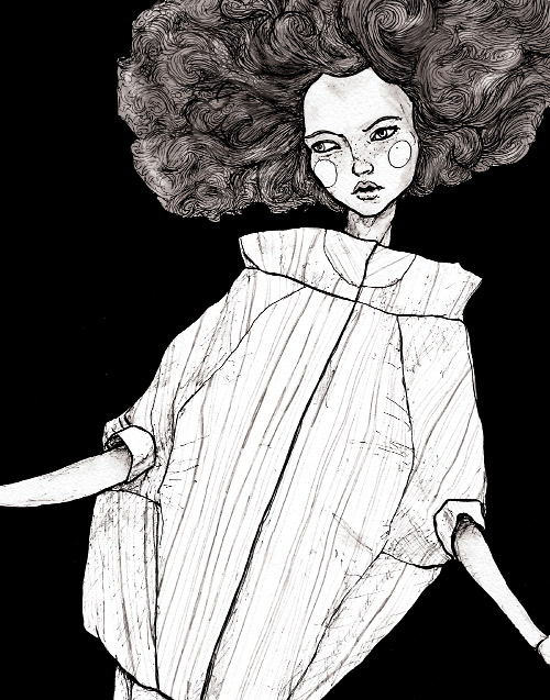 this is an illustration danny roberts did for the academy of art spring 2007 lookbook in New York fashion week
