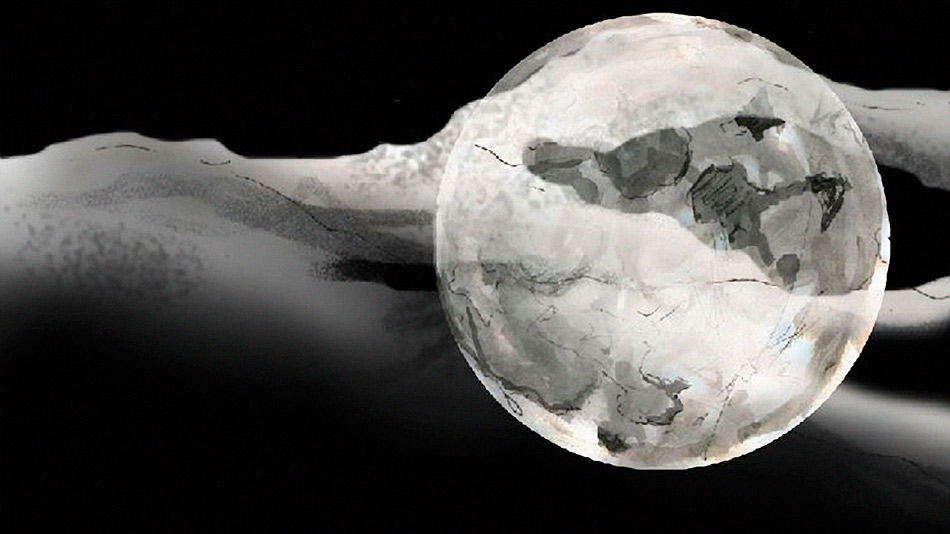 A still frame of a the moon from igorandandre dior animation