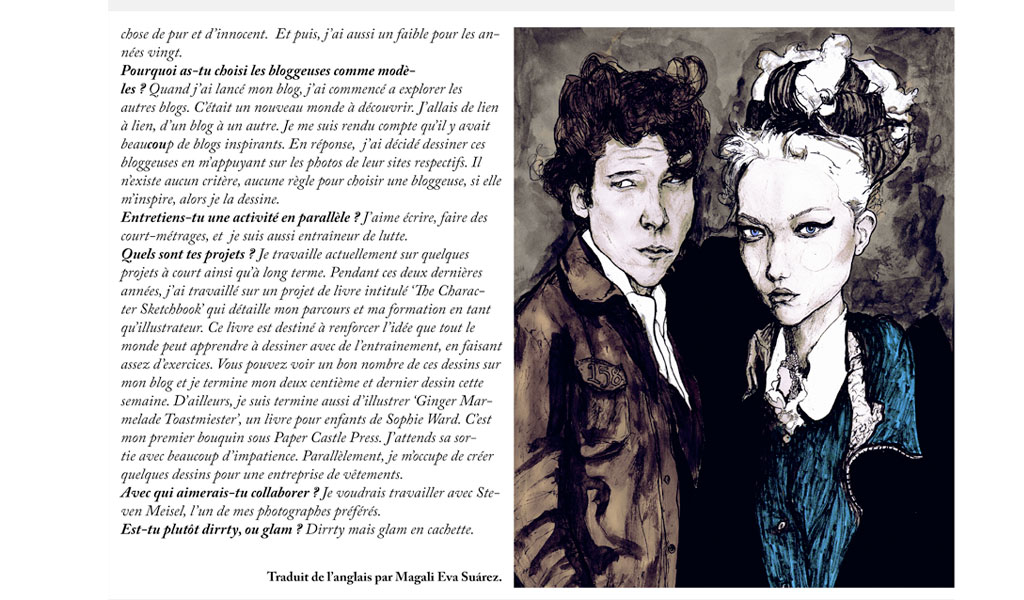 This is pages 193 and 194 out of dirty glam magazines interview with Artist Danny Roberts