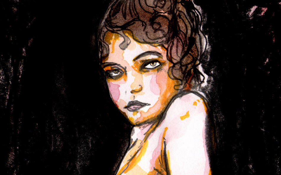 Figure Drawing of a nude girl in the 1900 by danny roberts