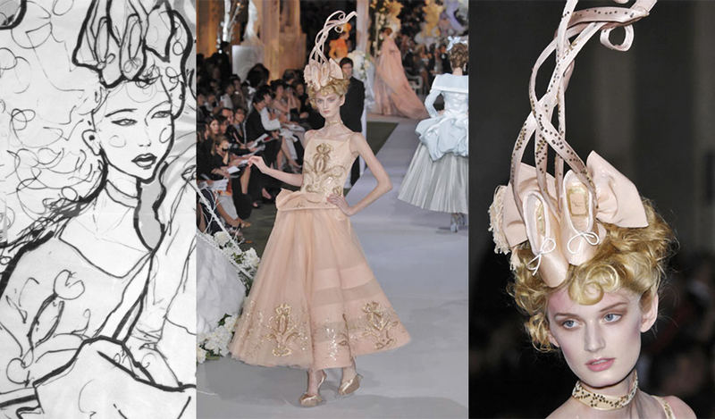 This Picture is from danny Roberts technique break down of his Christian Dior Couture illustration
