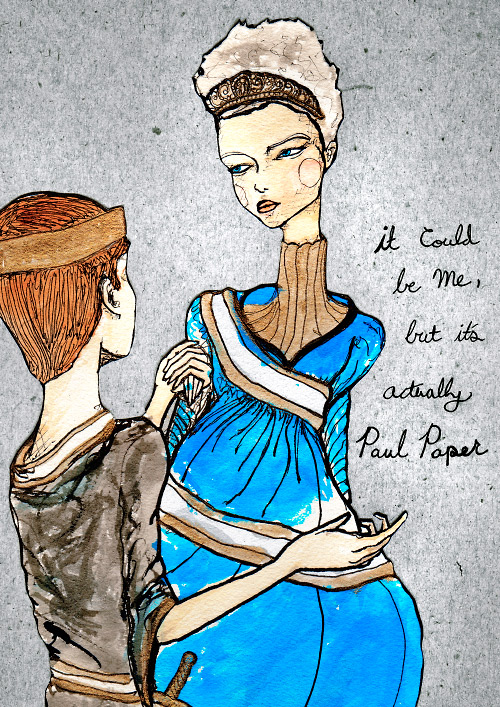 danny roberts drawing for Paul Papers project it could be me but it's paul paper