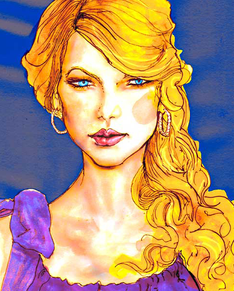 This Drawing Fashion artist Danny Roberts did of Taylor Swift