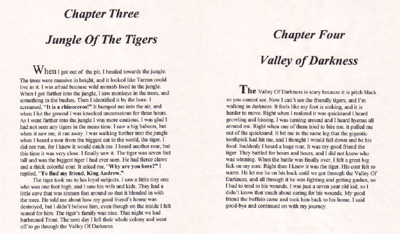 Chapter 2 and 4 of the loyal lion