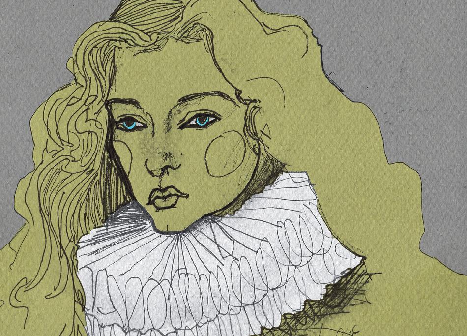 Danny Roberts ketchbook drawing of Vlada Roslyakova