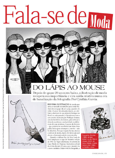 Article from Vogue Brazil Oct 2009 Danny Roberts Girls in Chanel Glasses
