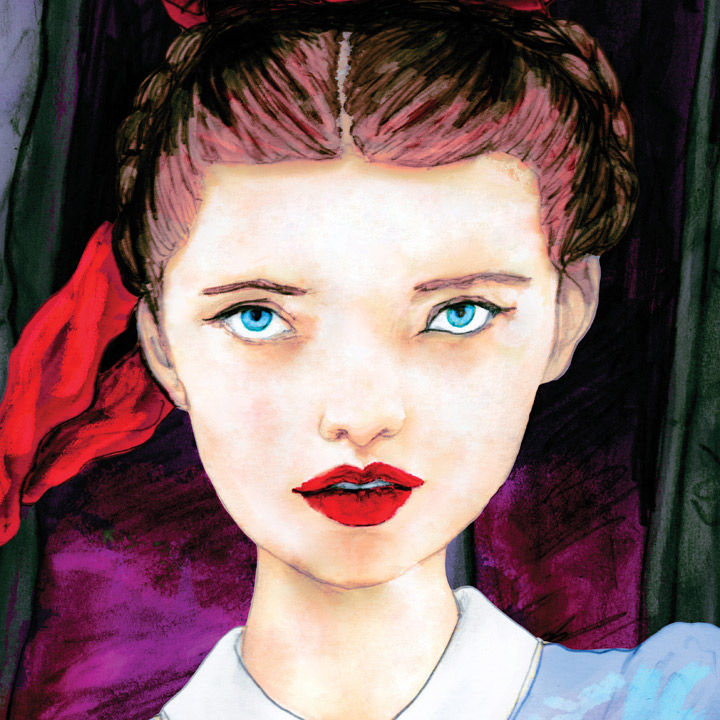 Artist Danny Roberts Painting of Miette for the Dream Walking Society Runaways Ep by Tim Frost and Danny Roberts